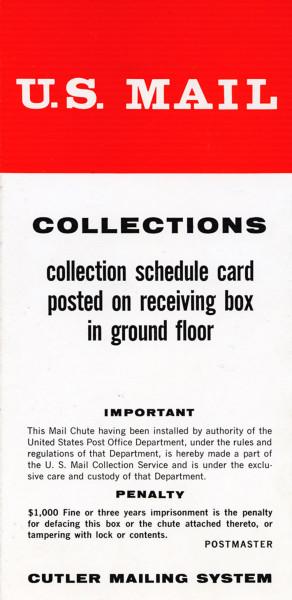 1957 375 Park Mail chute card 5